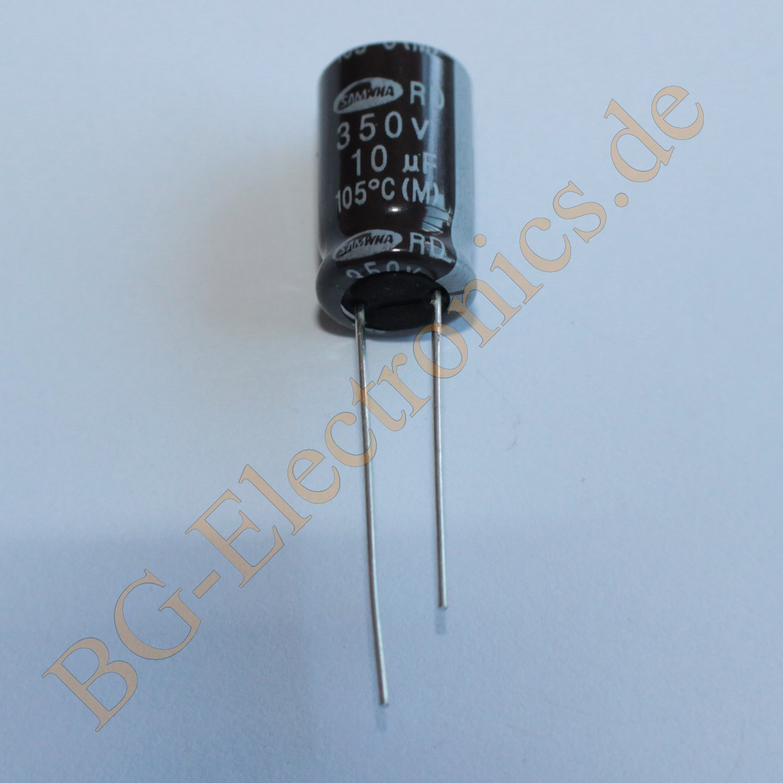 20 x 10 f 10uf 350v 105 rm5 elko kondensator capacitor ra. Black Bedroom Furniture Sets. Home Design Ideas