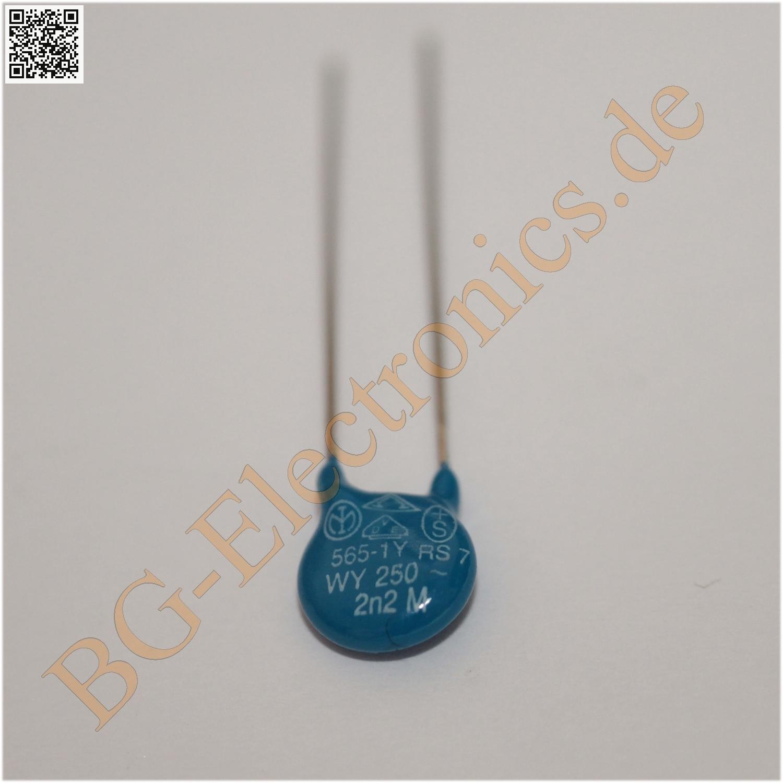 10 x 2200pf 250v rm5 keramik kondensator capacitor. Black Bedroom Furniture Sets. Home Design Ideas