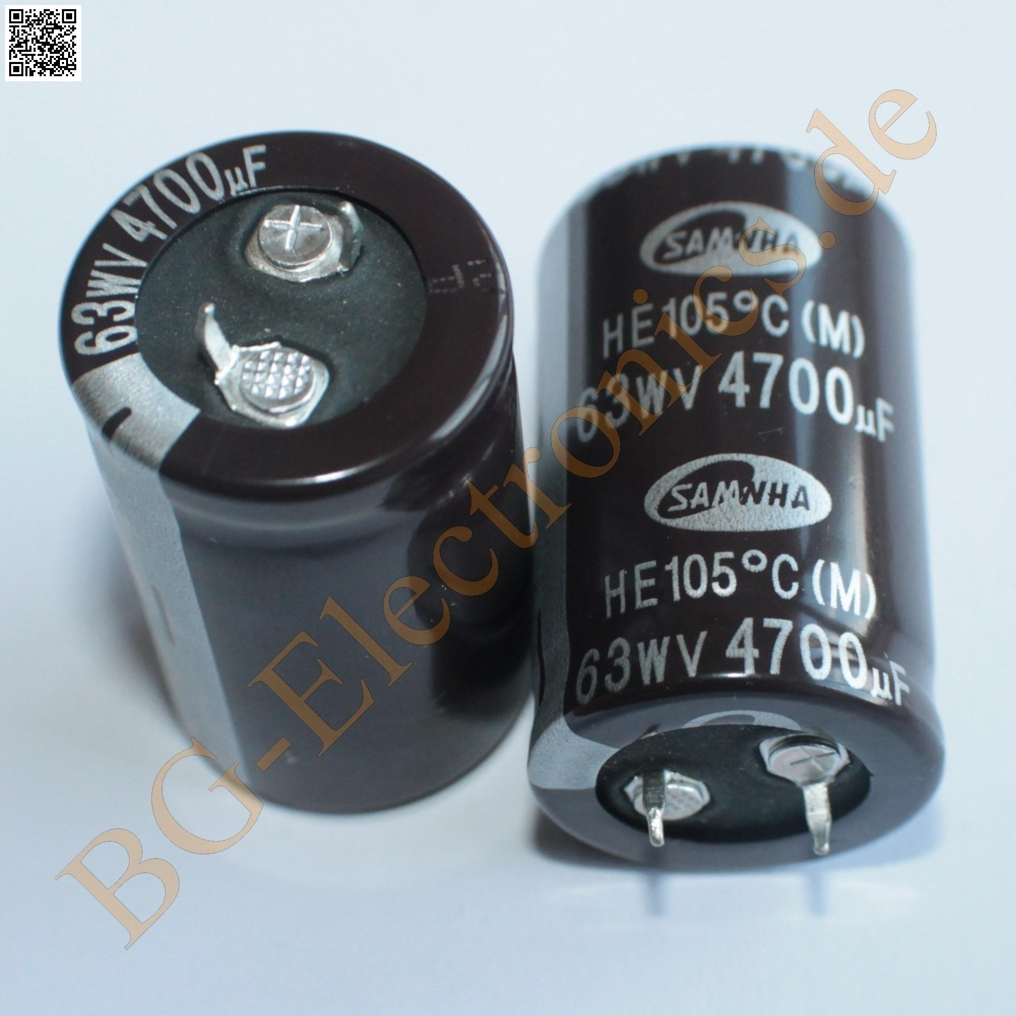 Snap-In Elko Kondensator 15000µF 63V 100°C