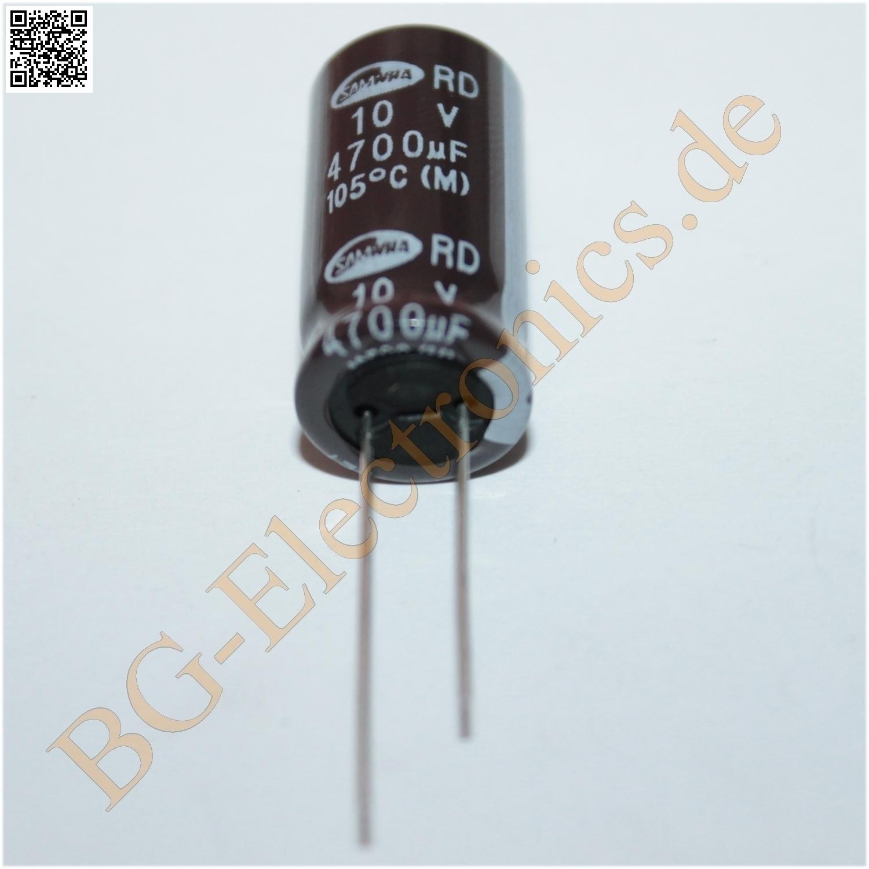 5 x 4700 f 4700uf 10v 105 rm5 elko kondensator capacitor. Black Bedroom Furniture Sets. Home Design Ideas