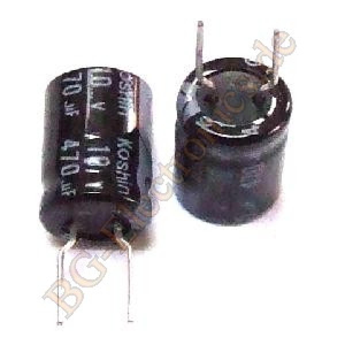 5 x 470 f 470uf 10v rm5 elko kondensator capacitor radial. Black Bedroom Furniture Sets. Home Design Ideas