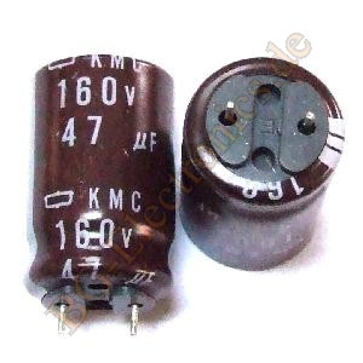 2 x 47 f 47uf 160v 105 rm7 5 elko kondensator capacitor. Black Bedroom Furniture Sets. Home Design Ideas