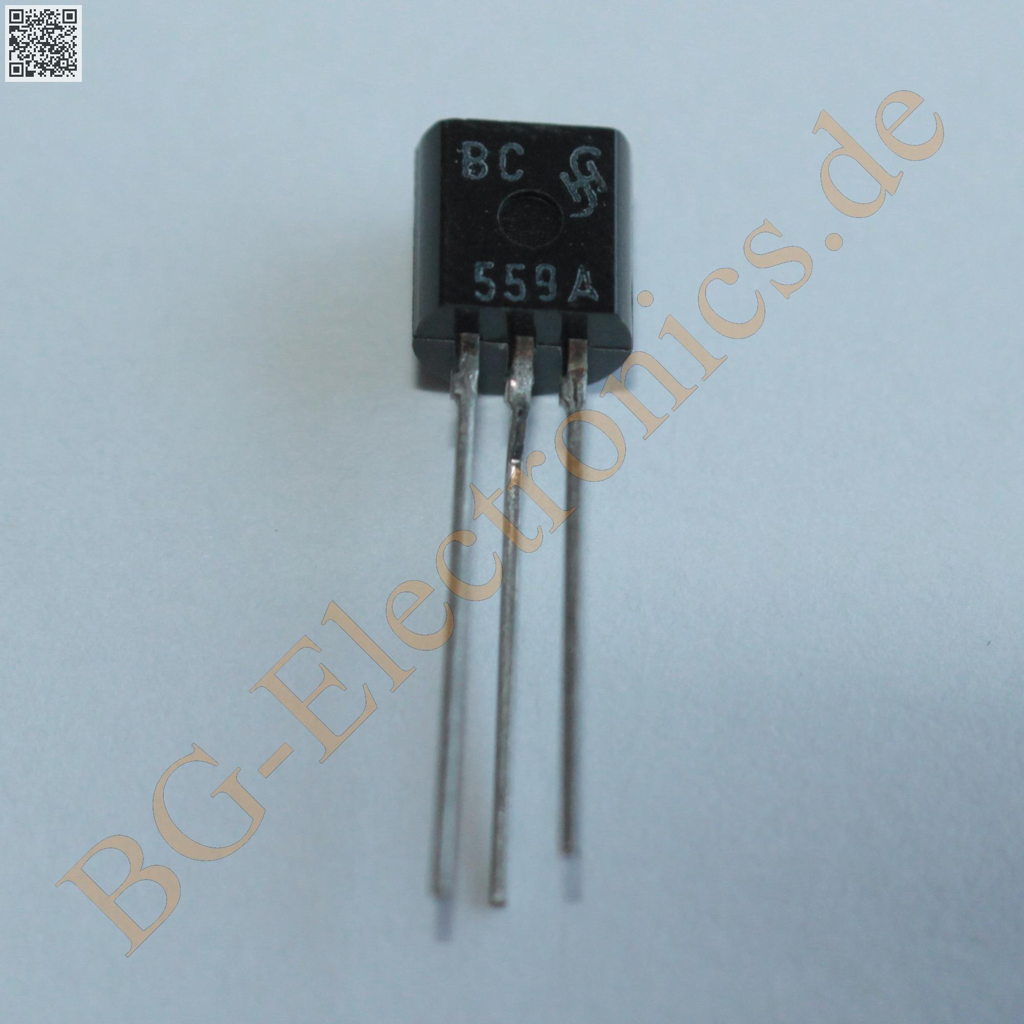 10 x bc559a pnp silicon transistor 30v 100ma 500mw siemens. Black Bedroom Furniture Sets. Home Design Ideas
