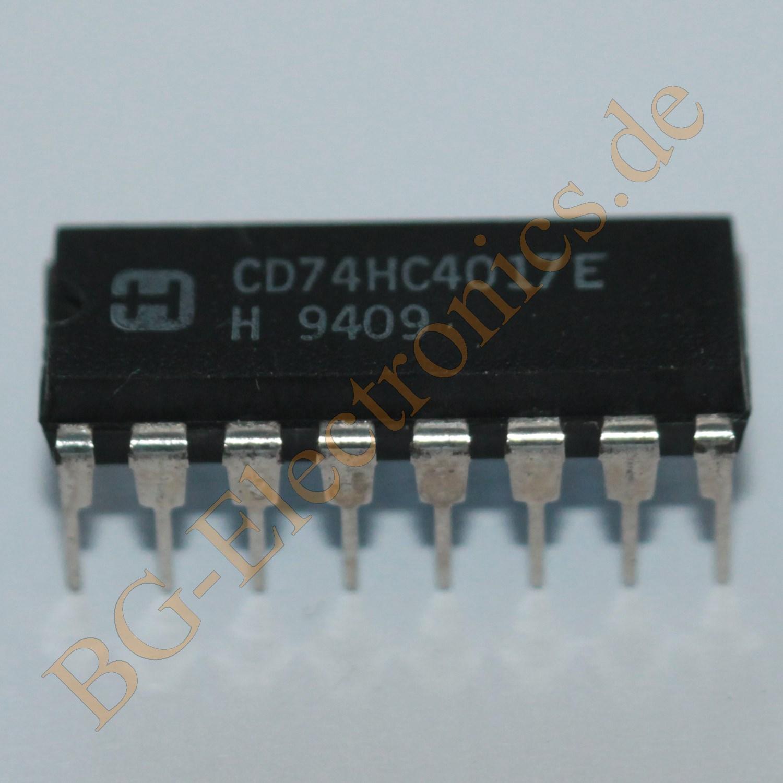 Ne555n Bg Electronics Ne555 Datasheet Pdf Stmicroelectronics Irf510 Cd74hc4017e