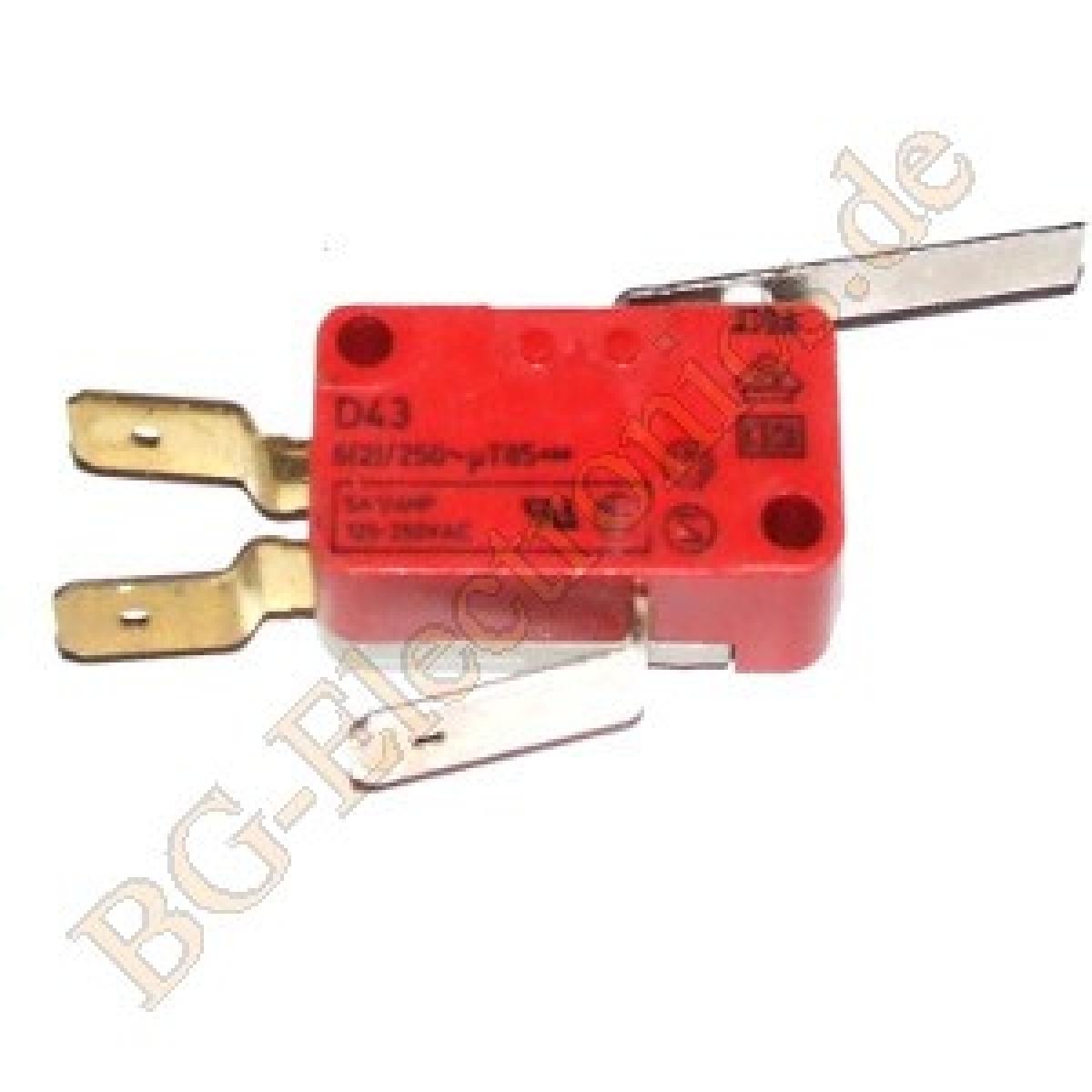 1-x-Schnappschalter-D43V3MA-KA-Schnappschalter-Mikroschalter-Cherry-1pcs