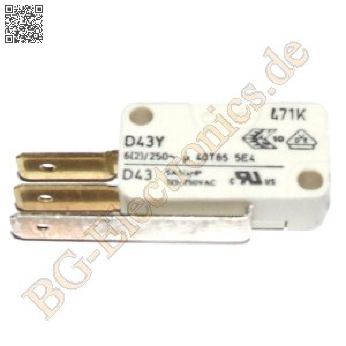 1-x-Schnappschalter-D43Y5AA-Schnappschalter-Mikroschalter-Cherry-1pcs