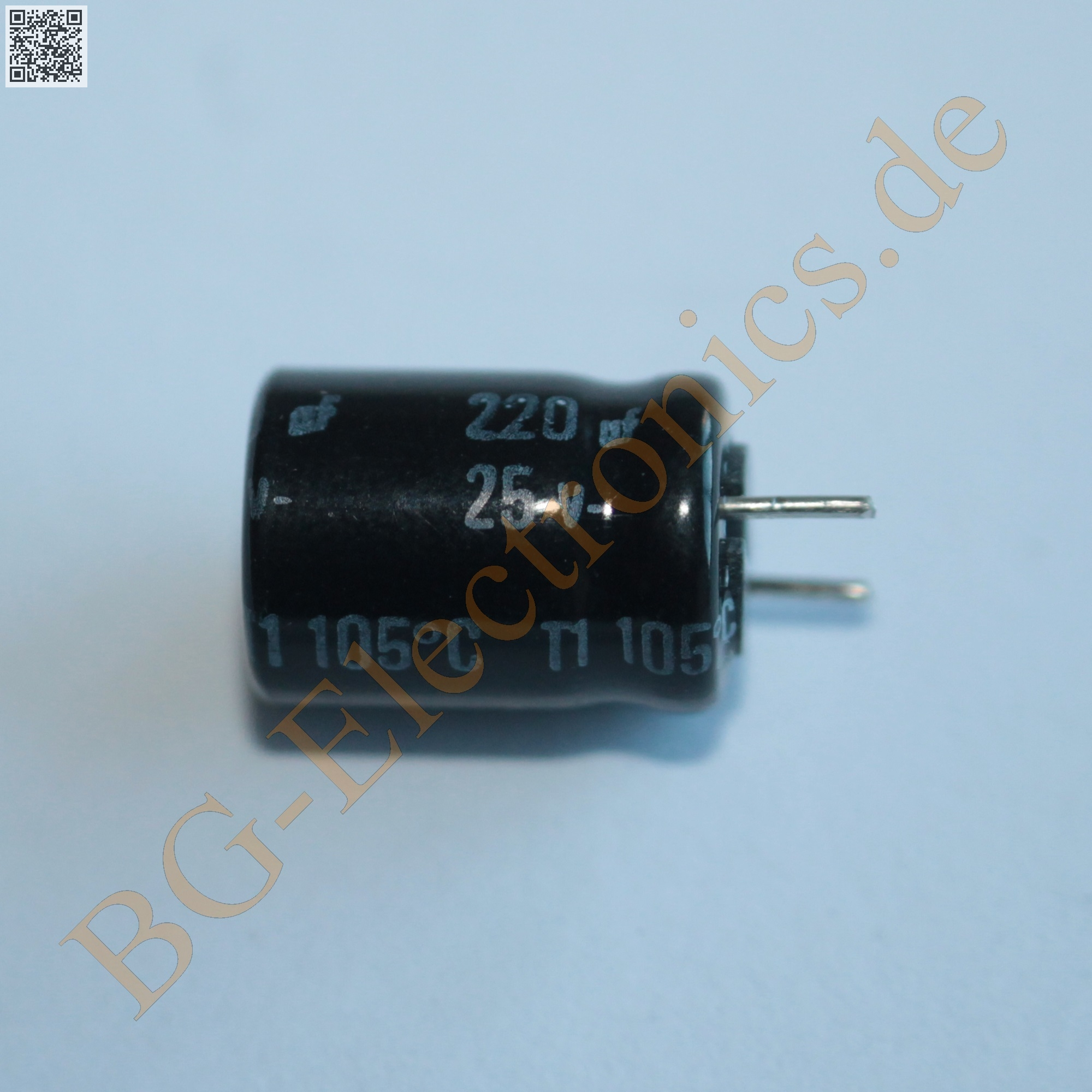 20 x 220 f 220uf 25v 105 rm5 elko kondensator capacitor r. Black Bedroom Furniture Sets. Home Design Ideas