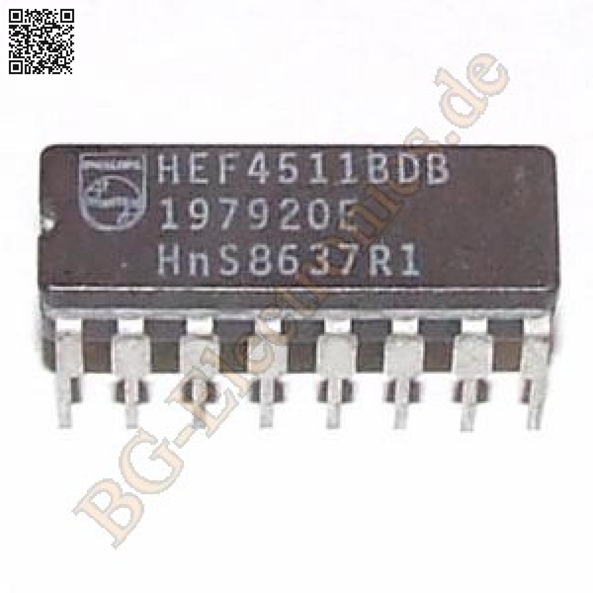 1-x-HEF4511BDB-BCD-to-7-segment-latch-decoder-driver-Philips-CDIP-16-1pcs