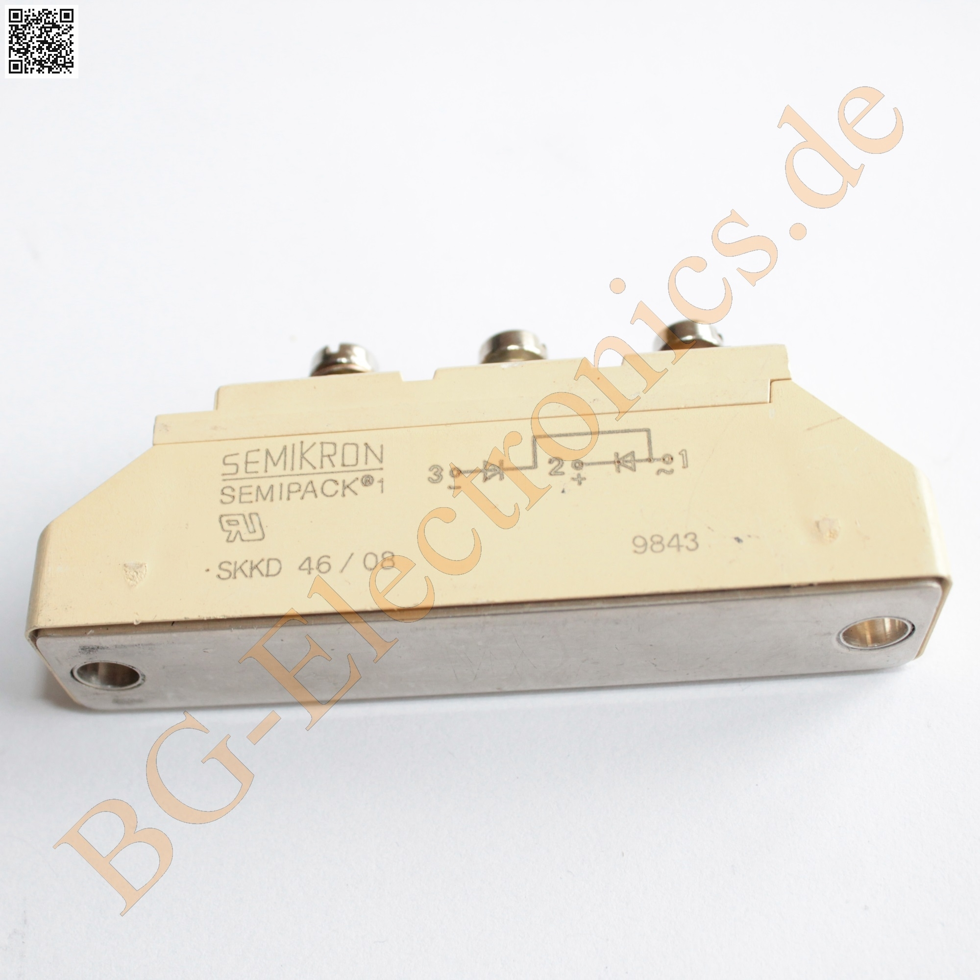 Detalles De 1 X Skkd 46 08 Rectifier Diodo Modules 46/08 Semikron picture pin.