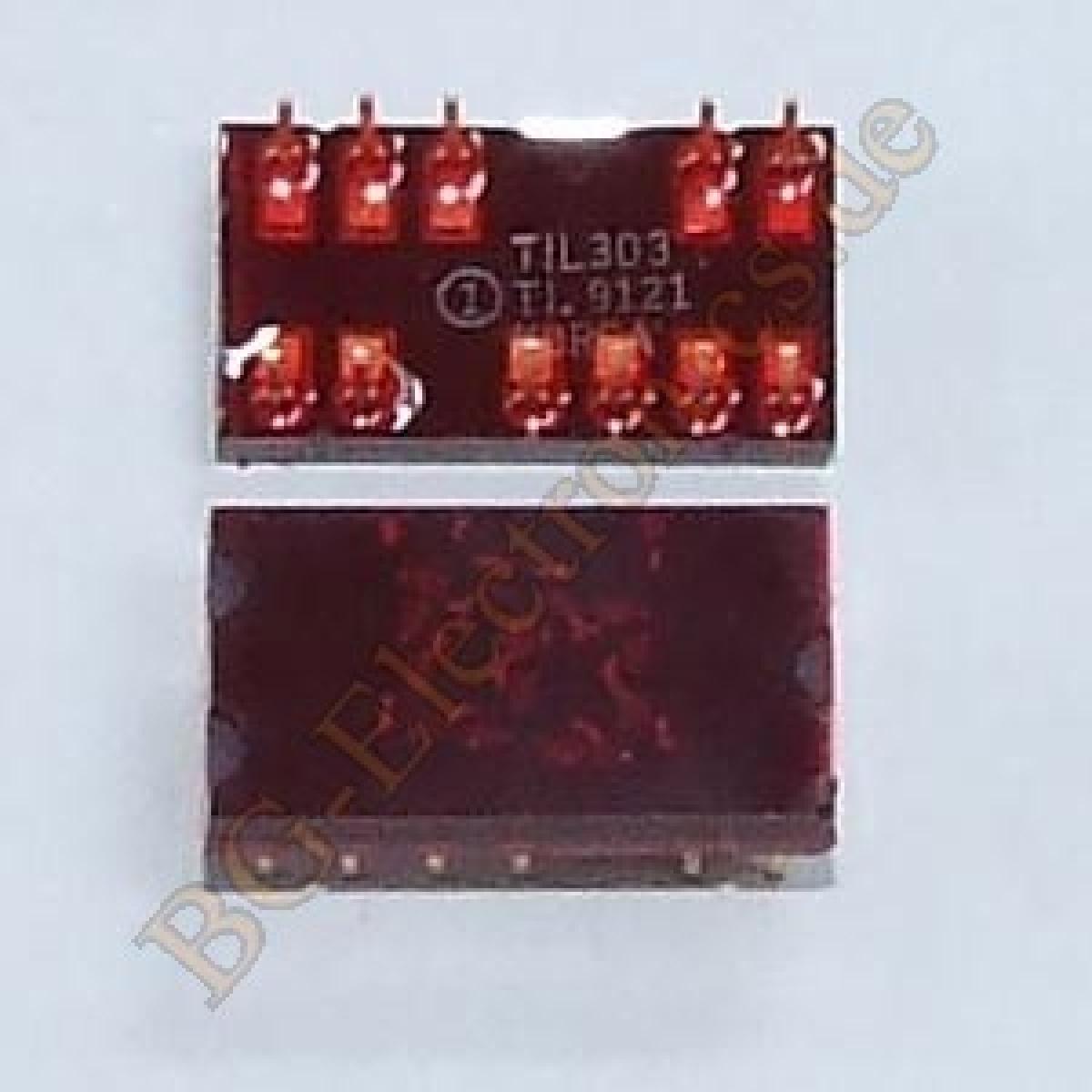 1-x-TIL303-7-Seven-Sieben-Segment-Anzeige-Display-red-Rot-TI-DIP-14-1pcs