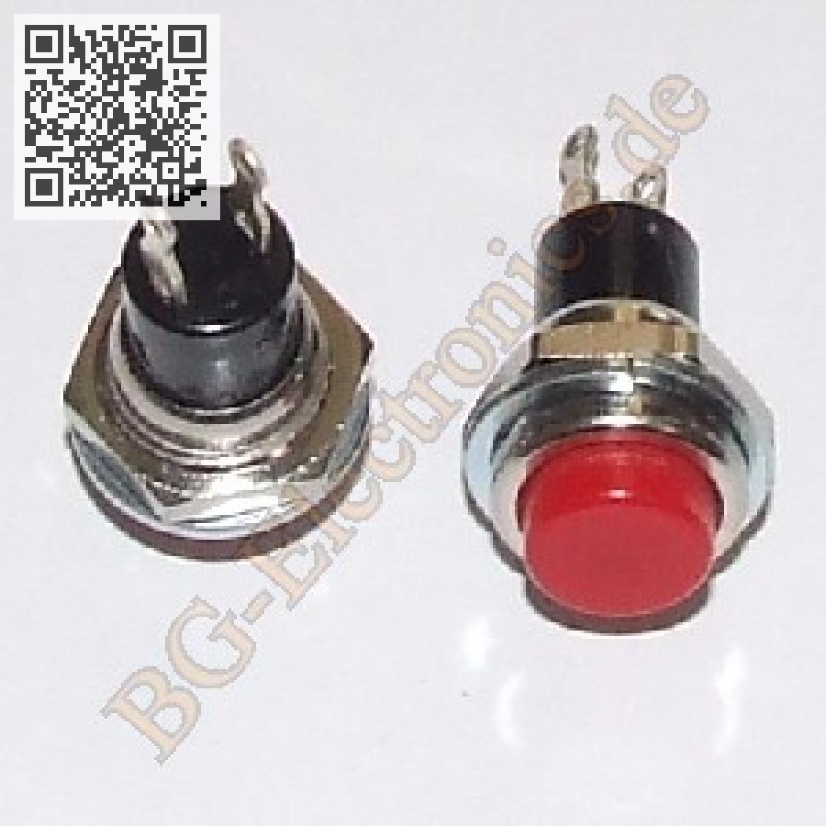 5-x-Drucktaster-rund-12mm-ROT-Taster-Schliesser-125V-3A-MS-350-5pcs