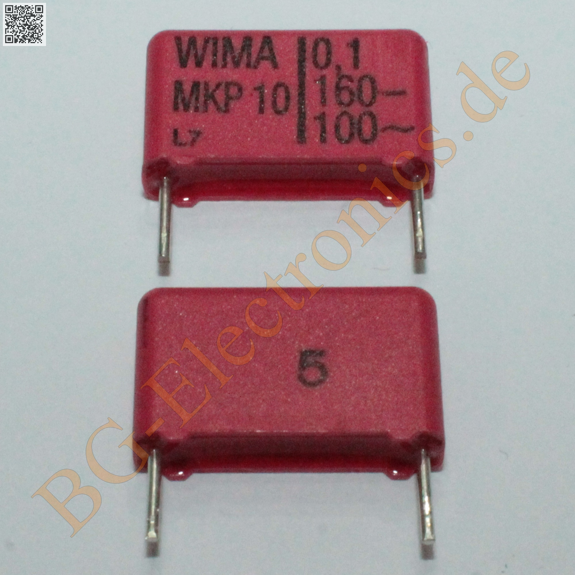 10 x 1µF 1uF 1000nF 100V MKS-4 RM15 Folien Kondensator Capacitor  WIMA  10pcs