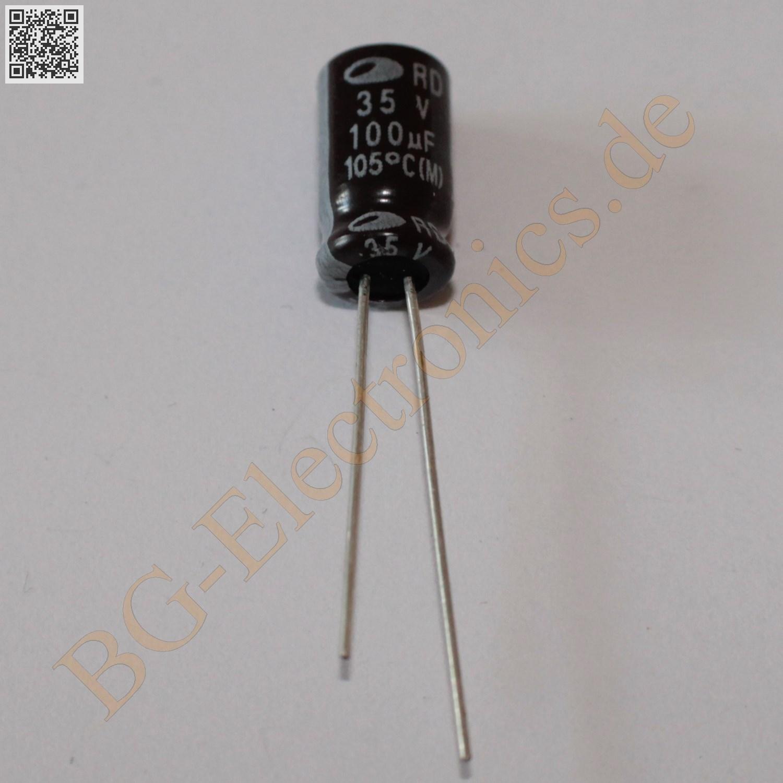 20 x 22µF 22uF 100V 85° RM5 Elko Kondensator Capacitor Radial Samwha  20pcs
