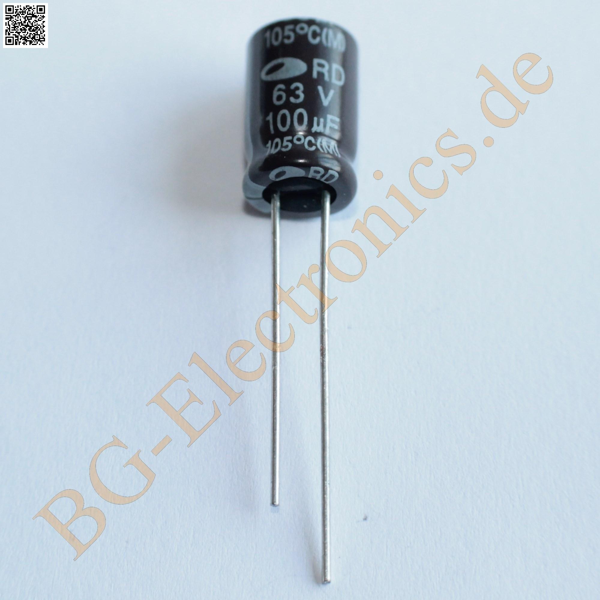 20 x 100 f 100uf 63v 105 rm3 5 elko kondensator capacitor samwha e cap 20pcs ebay. Black Bedroom Furniture Sets. Home Design Ideas