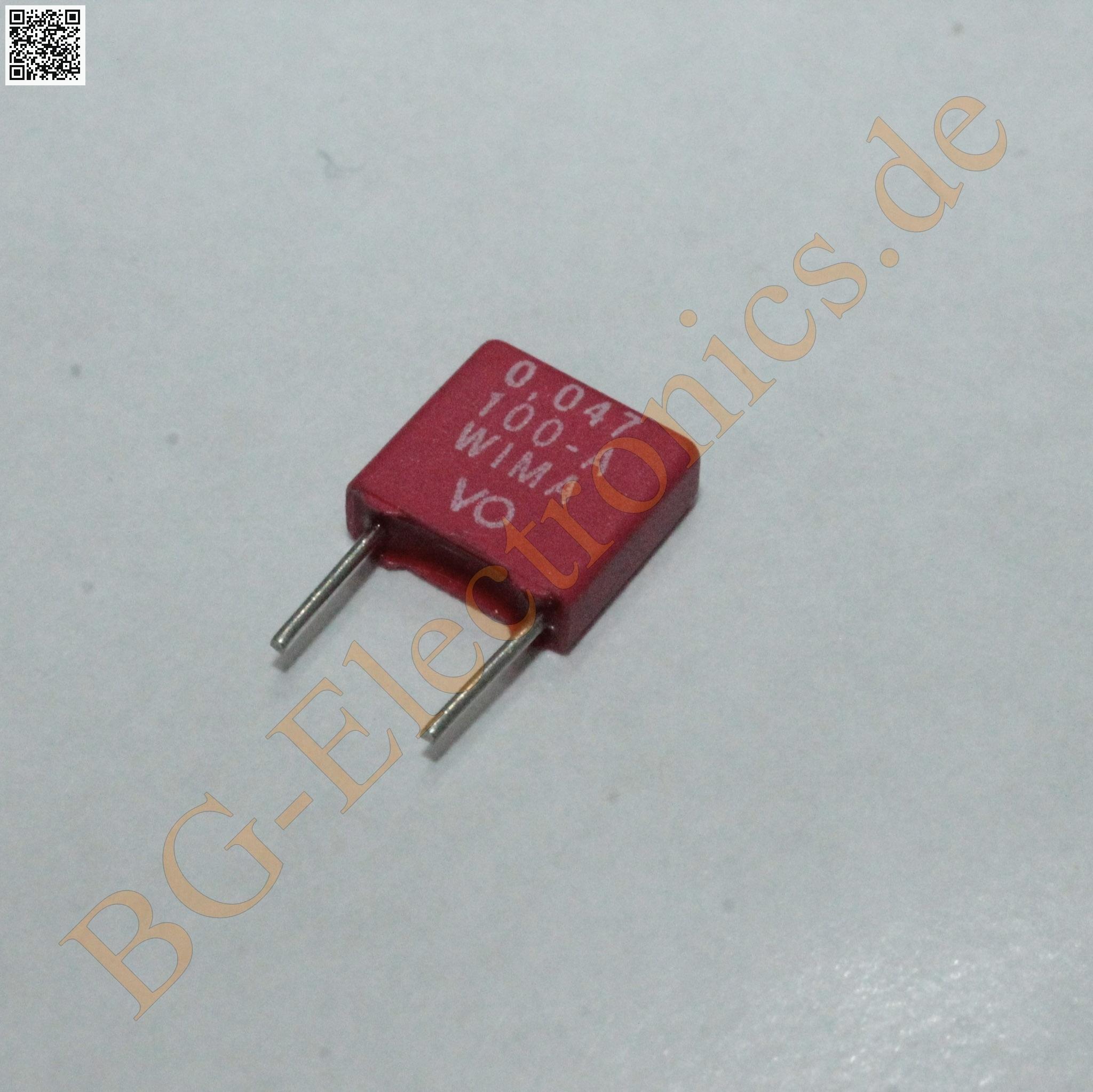 2 x 47nF 0.047uF 0.047µF 400V MKP-10 RM15 Folien Kondensator Capac WIMA  2pcs