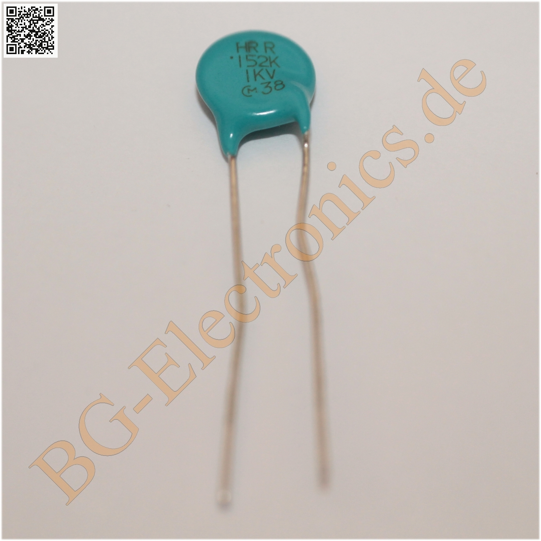 5 x 1.5nF 1000V RM5 0.0015µF 0.0015uF Keramik Kondensator Capacitor ce   5pcs