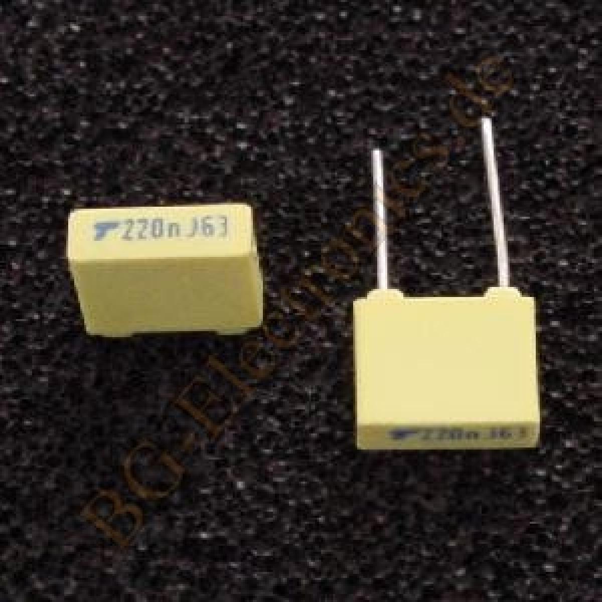 25 x 220nF 0.220uF 0.220µF 63V MKS-2 RM5 Folien Kondensator Capac WIMA  25pcs