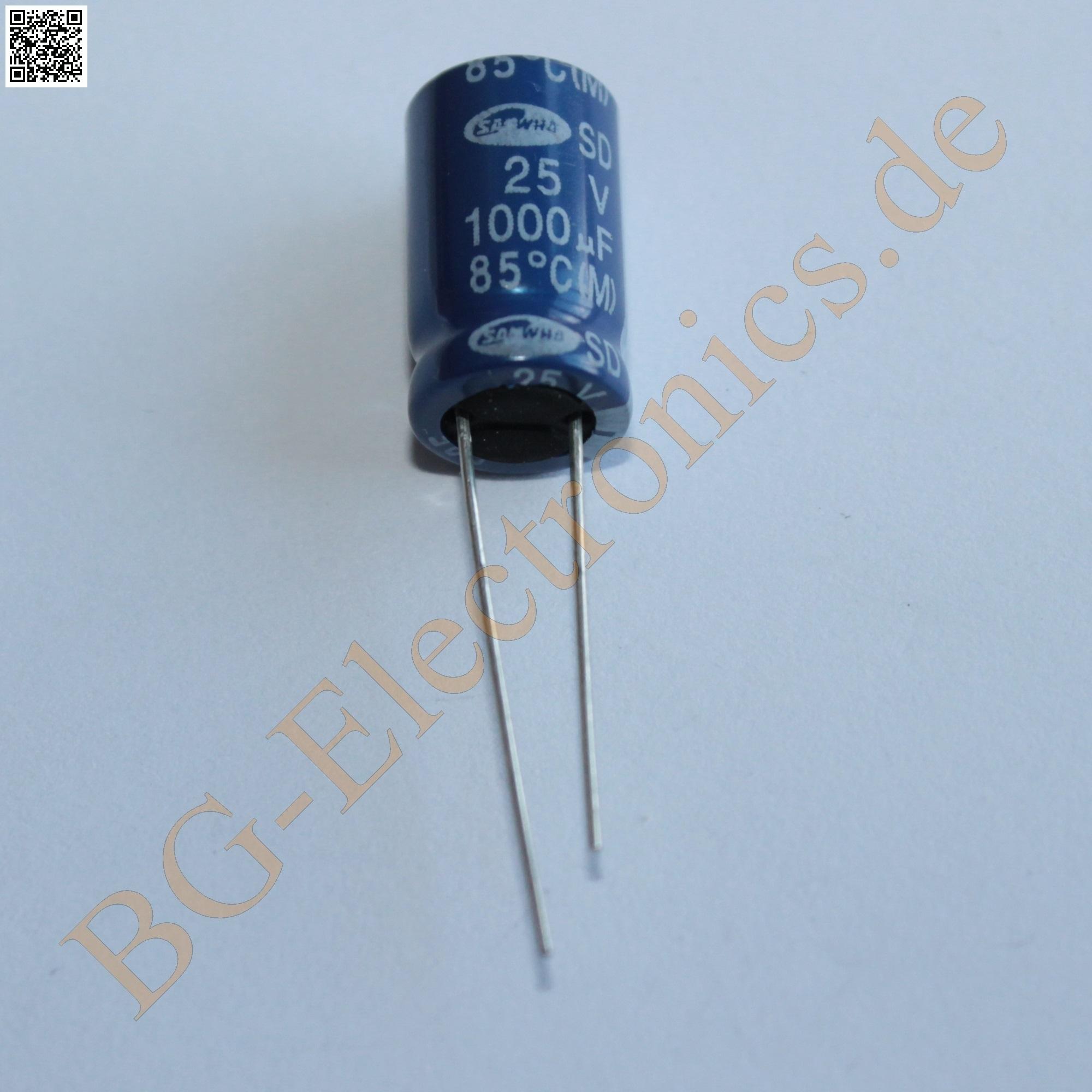 10 radiale Elko capacitors CONDENSATORE 1000µf 16v