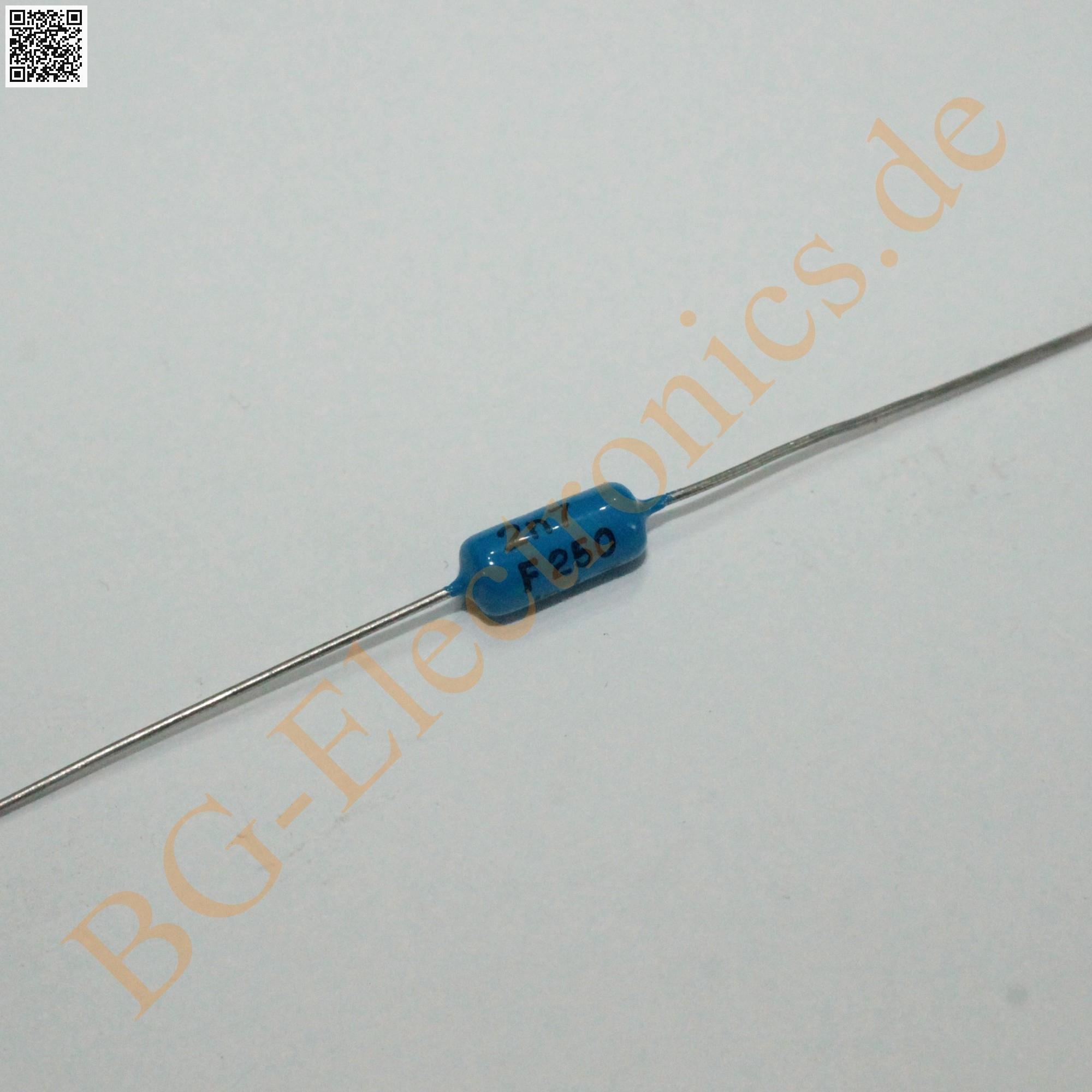5 x 2,7nF 0.000uF 0.000µF 250V KP 2700pF Folien Kondensator Cap Philips  5pcs