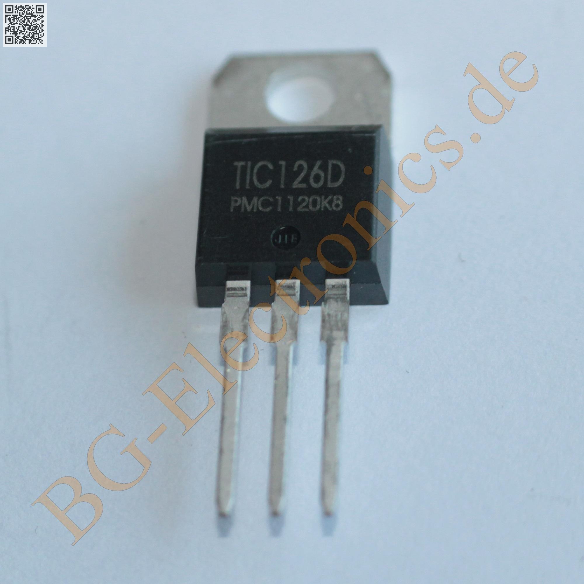1 x TIC126D Triac PMC TO-220 1pcs
